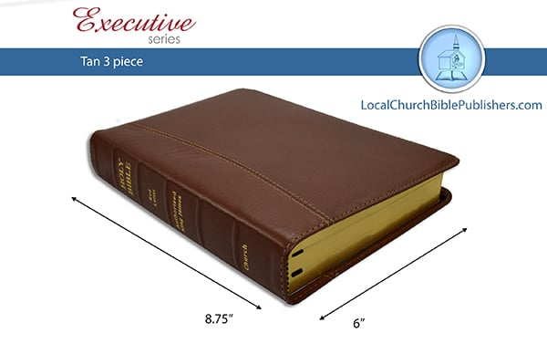 """120E3TN RL Mid Size Text Wide Margin Center Column Reference """"Red Letter"""" Tan 3 Piece (Executive)"""